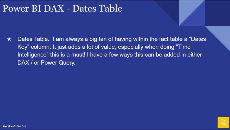 Power BI DAX – Shrikesh Pattni Portfolio